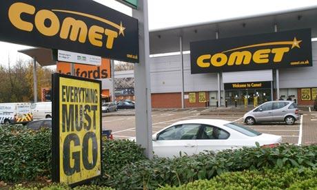 Comet stores shut