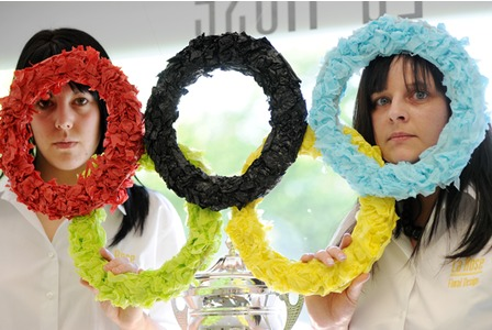 Olympics Florists Logo Rings Stoke Negotiation